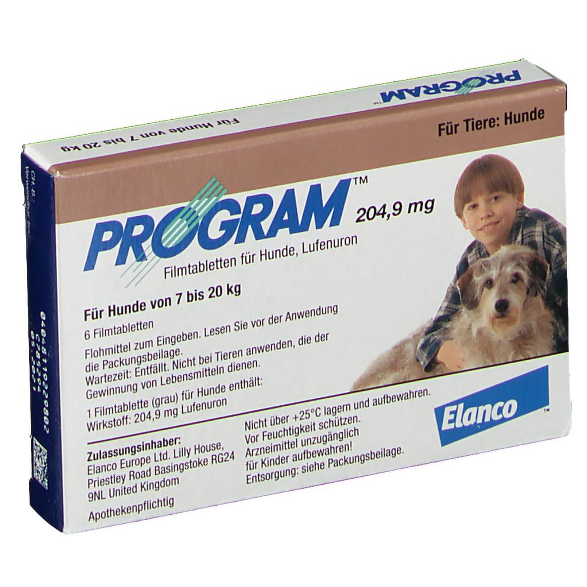 Program® für Hunde 204,9 mg 6 St Filmtabletten