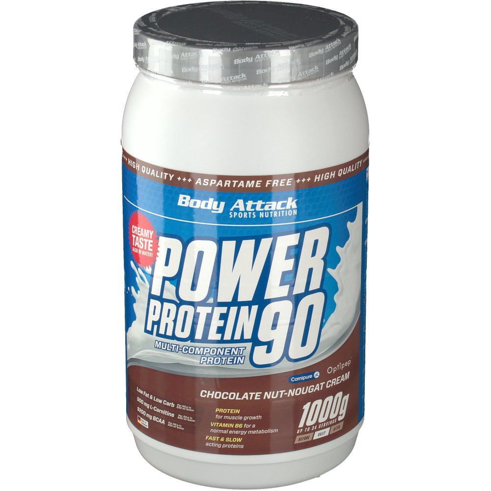 Body Attack Power Protein 90 Chocolate Nut-Noug...