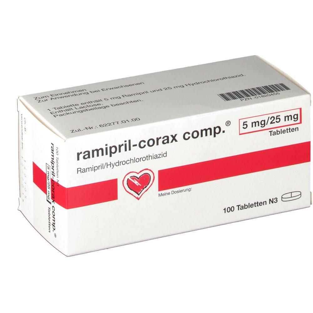 Ramipiril Corax Comp. 5 mg/25 Tabletten - shop-apotheke.com