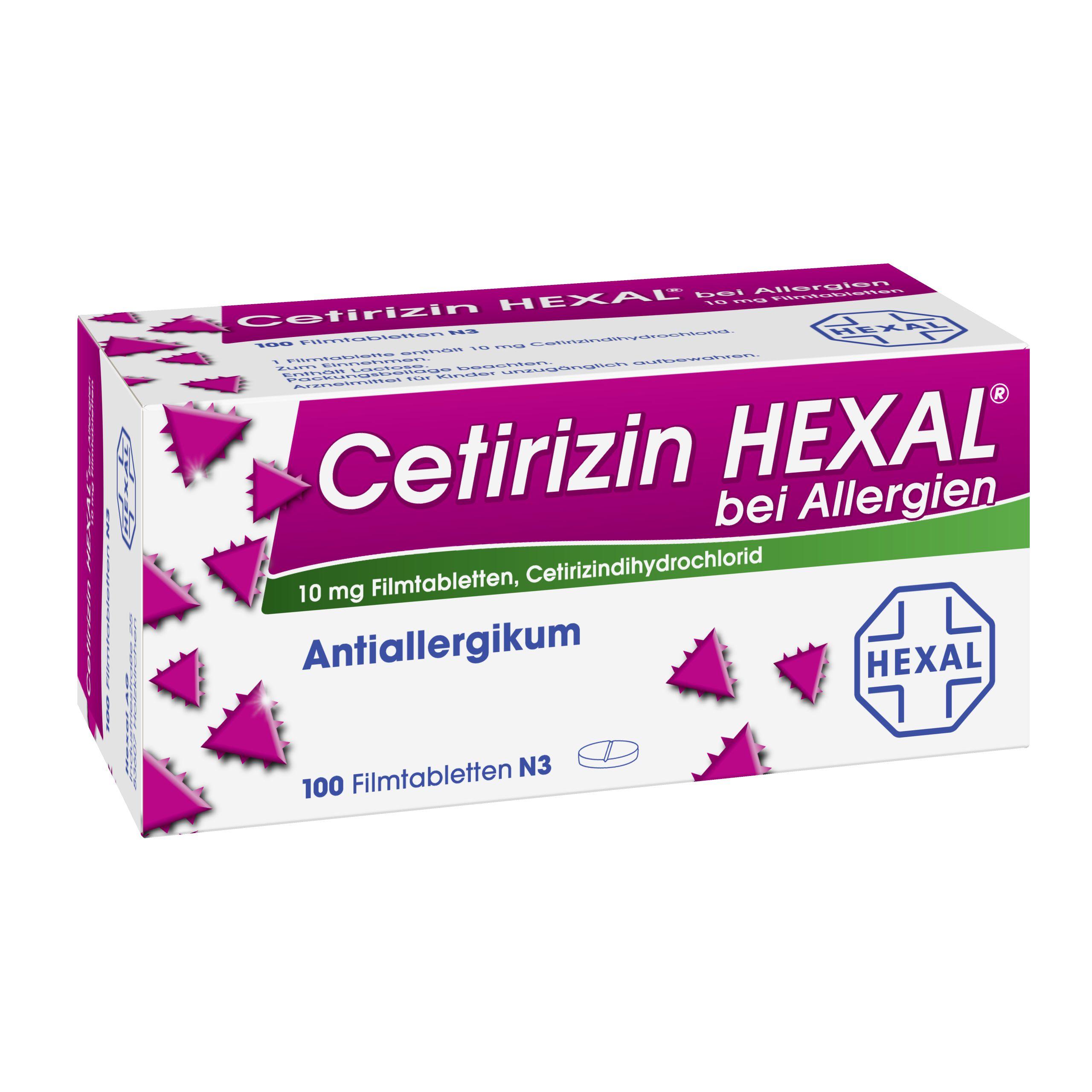 cetirizin hexal bei allergien 10 mg filmtabletten shop. Black Bedroom Furniture Sets. Home Design Ideas