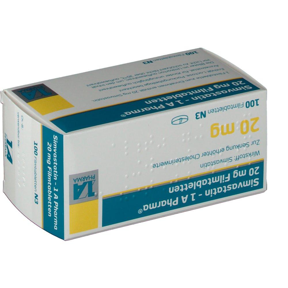 simvastatin 1a pharma 20mg fta