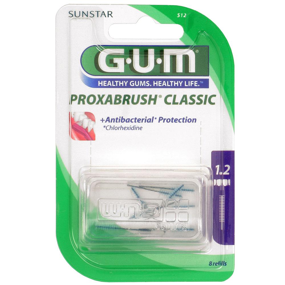 Gum® Proxabrush Ersatzbürsten 1,2 mm Kerze 512