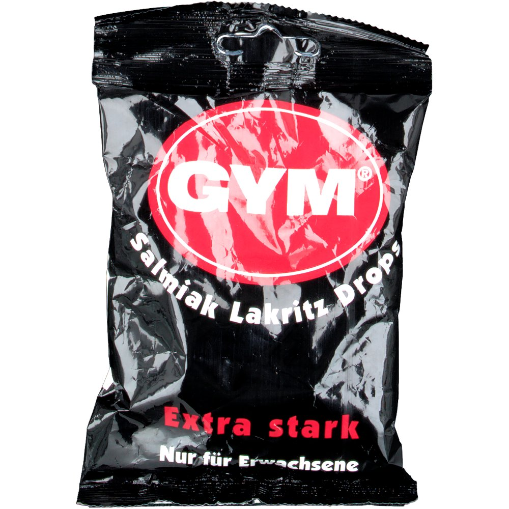 Gym Salmiak Lakritz Drops zuckerhaltig