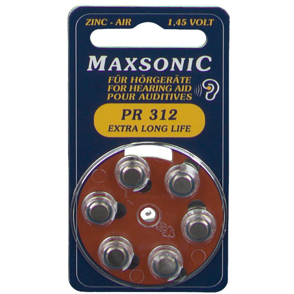 Maxsonic PR 312 Batterien für Hörgeräte