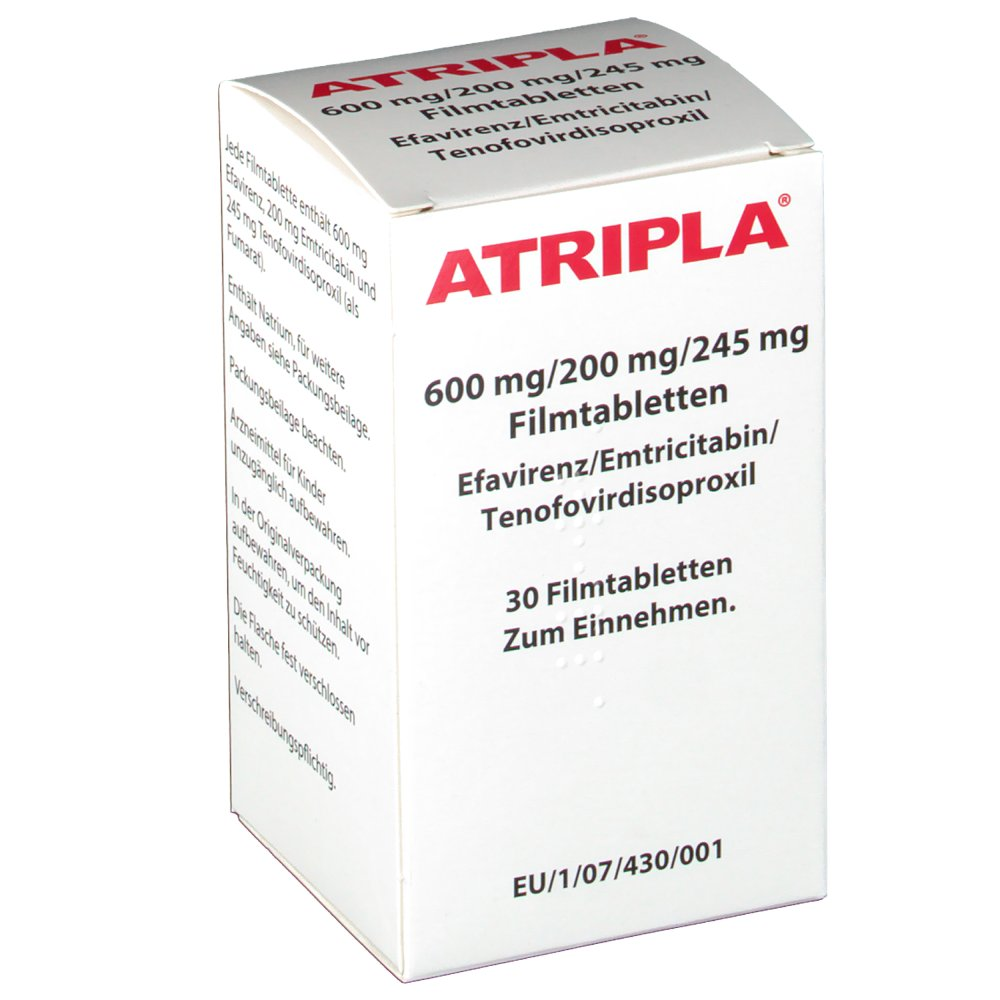 atripla tablets Emtriva® (emtricitabine) + viread® (tenofovir disoproxil fumarate) + sustiva ® (efavirenz) for a complete, 1-pill, once-a-day hiv-1 treatment atripla is a.