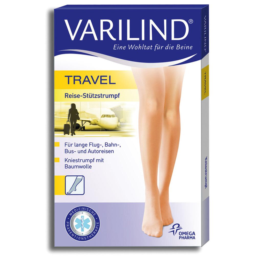 Varilind® Travel Kniestrümpfe 180 DEN anthrazit Gr. L (42,5-45)