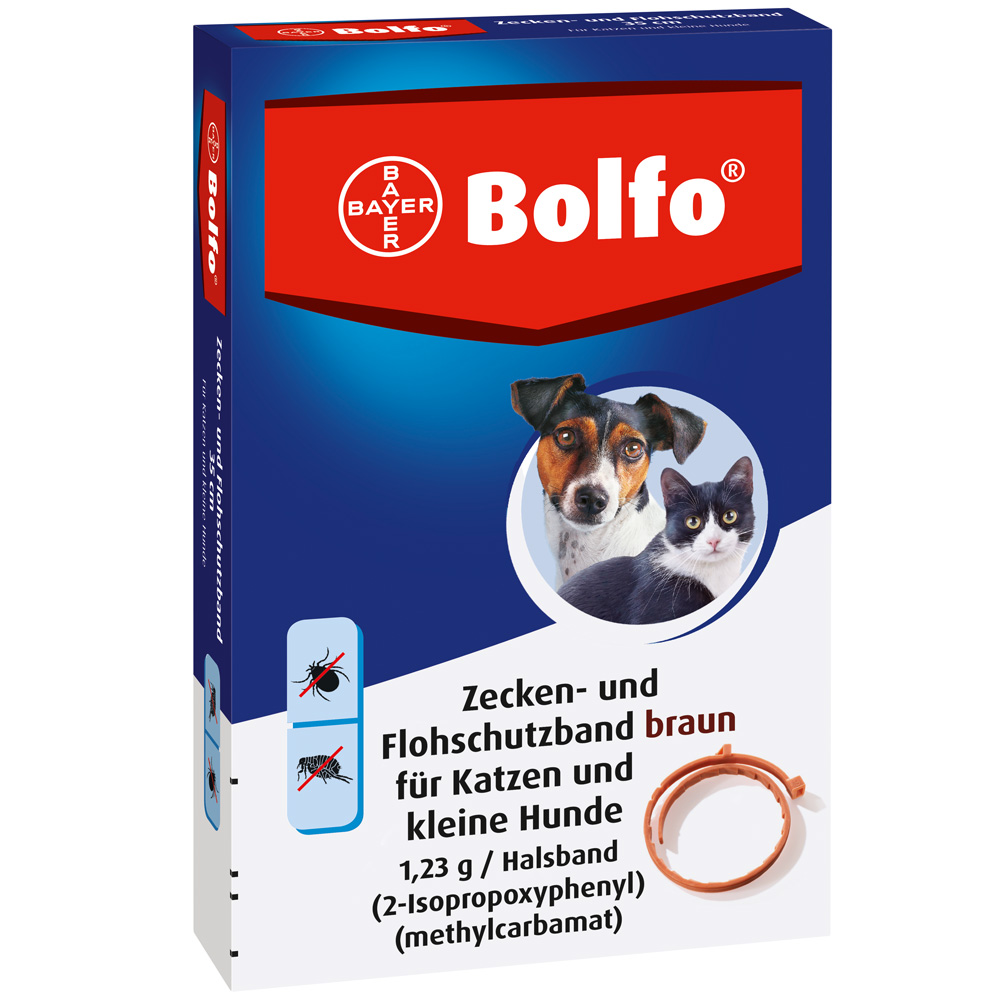 Bolfo® Zecken- und Flohschutzband braun für Kat...