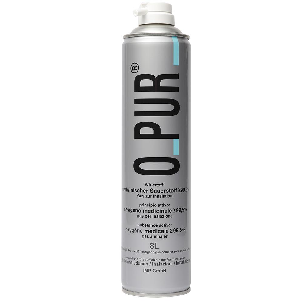 O Pur® Sauerstoff Dose für Maske 8 l Spray
