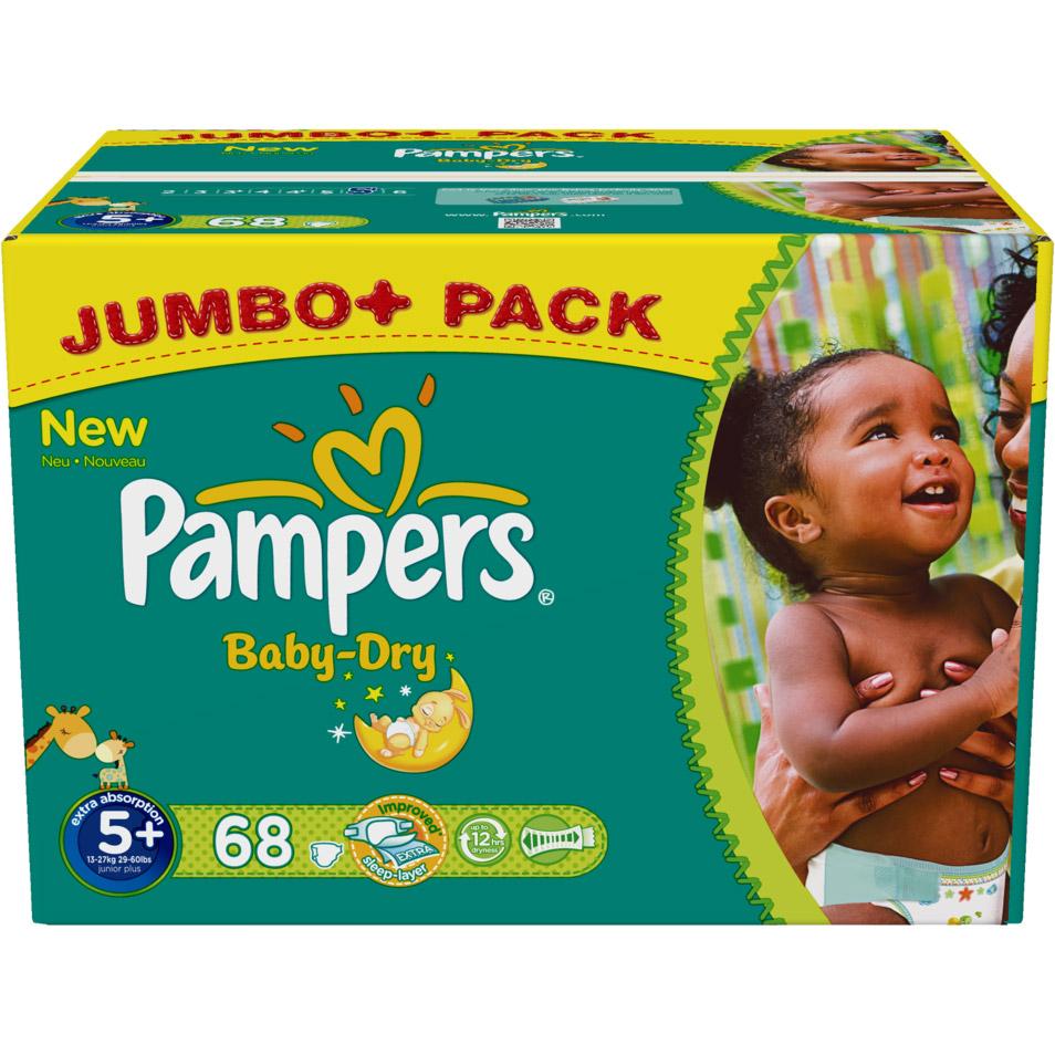 pampers baby dry gr e 5 junior plus 13 27kg shop. Black Bedroom Furniture Sets. Home Design Ideas