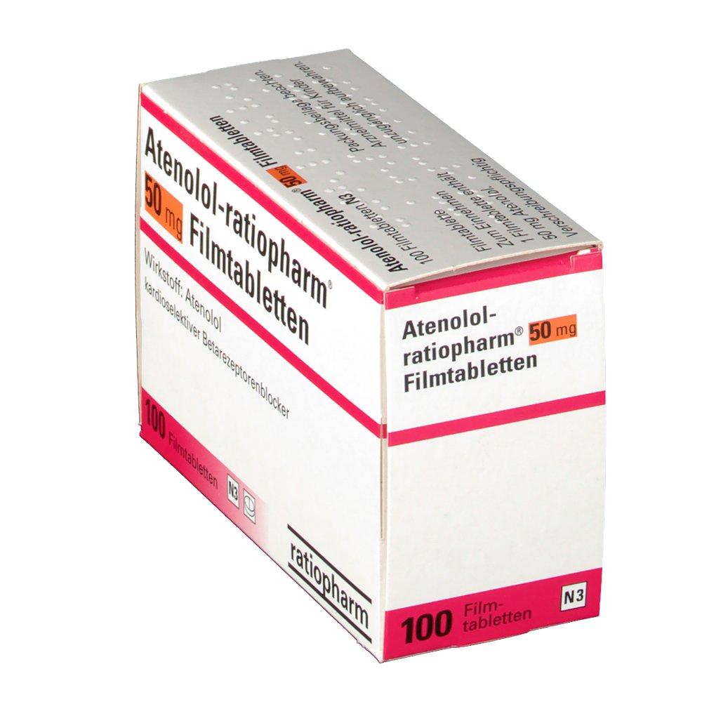 Atenolol Ratiopharm 50 Mg Filmtabletten