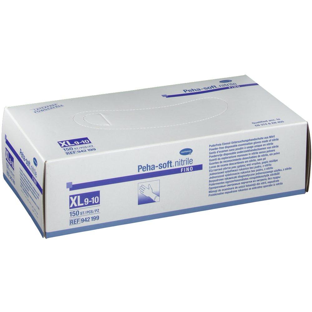 Peha-soft® nitrile fino puderfrei Untersuchungshandschuhe Gr. XL 9 - 10