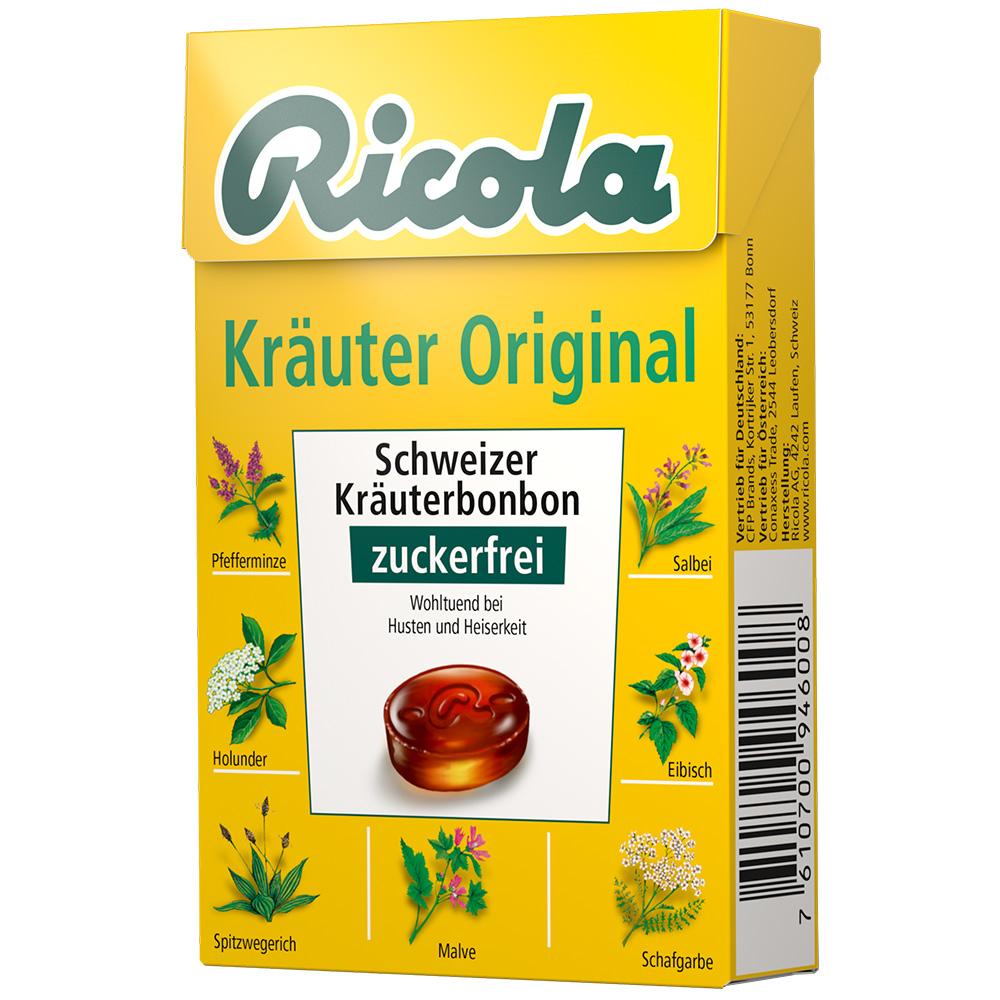 Ricola® Schweizer Kräuterbonbons Box Kräuter Or...