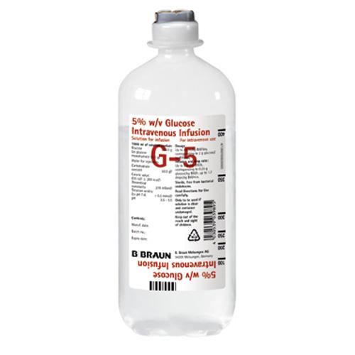 Glucose 5 % B. Braun Infusionslösung