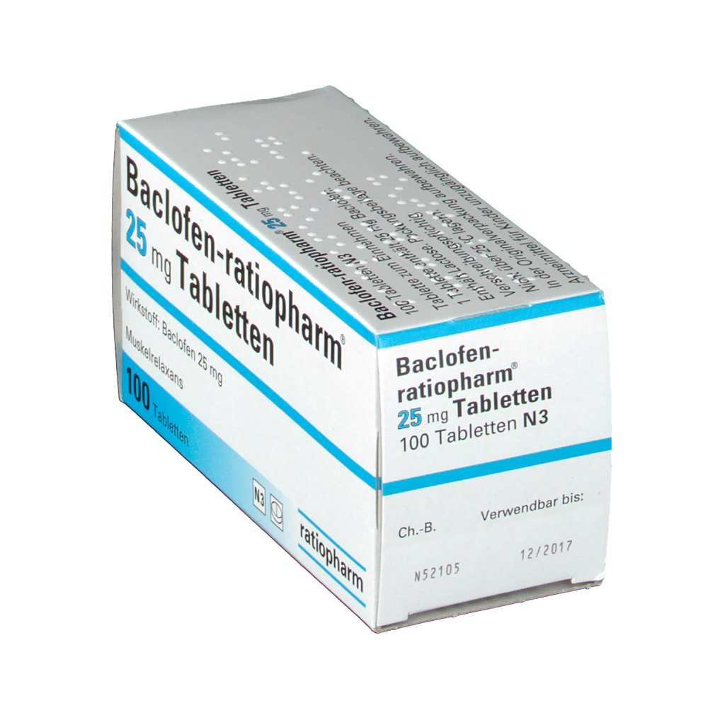 Baclofen Ratiopharm 25 Mg Tabletten - …