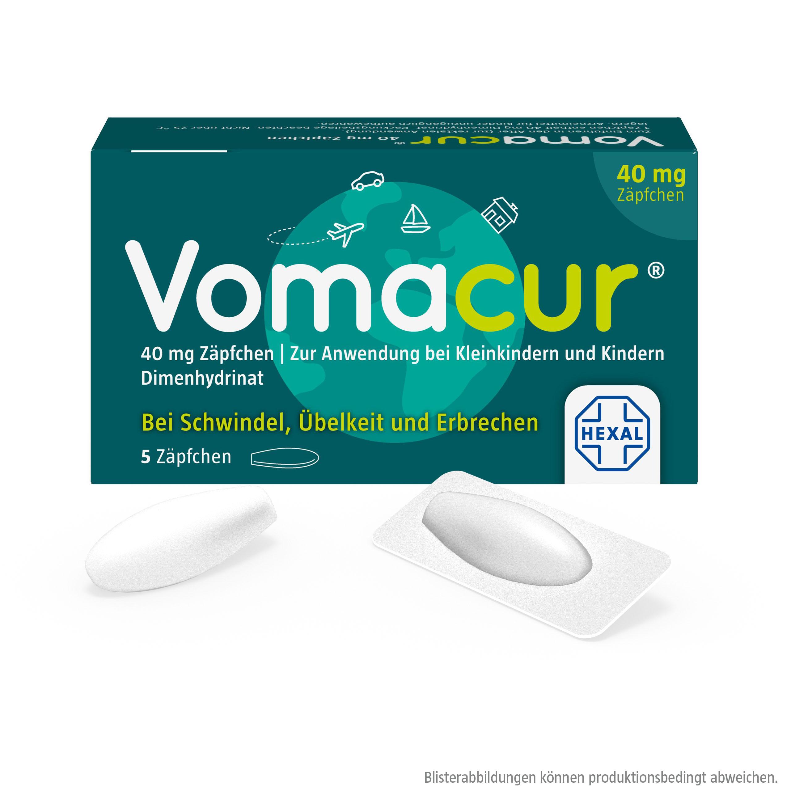 Vomacur® 40 mg Zäpfchen
