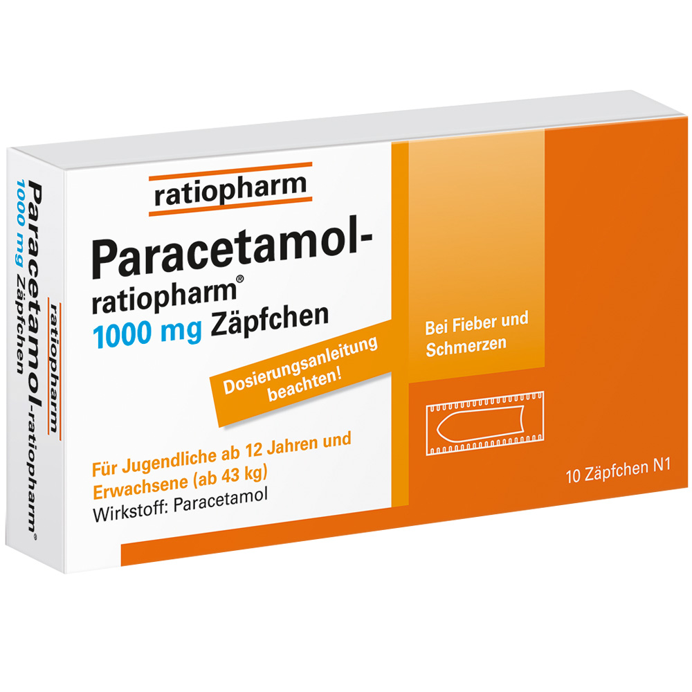 paracetamol ratiopharm 1000 mg z pfchen shop. Black Bedroom Furniture Sets. Home Design Ideas