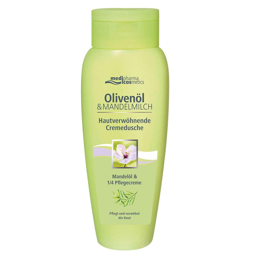 medipharma cosmetics Olivenöl & Mandelmilch Hautverwöhnende Cremedusche