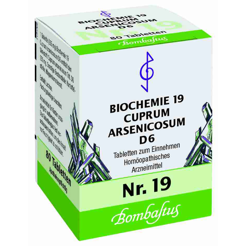 Bombastus Biochemie 19 Cuprum arsenicosum D 6 Tabletten