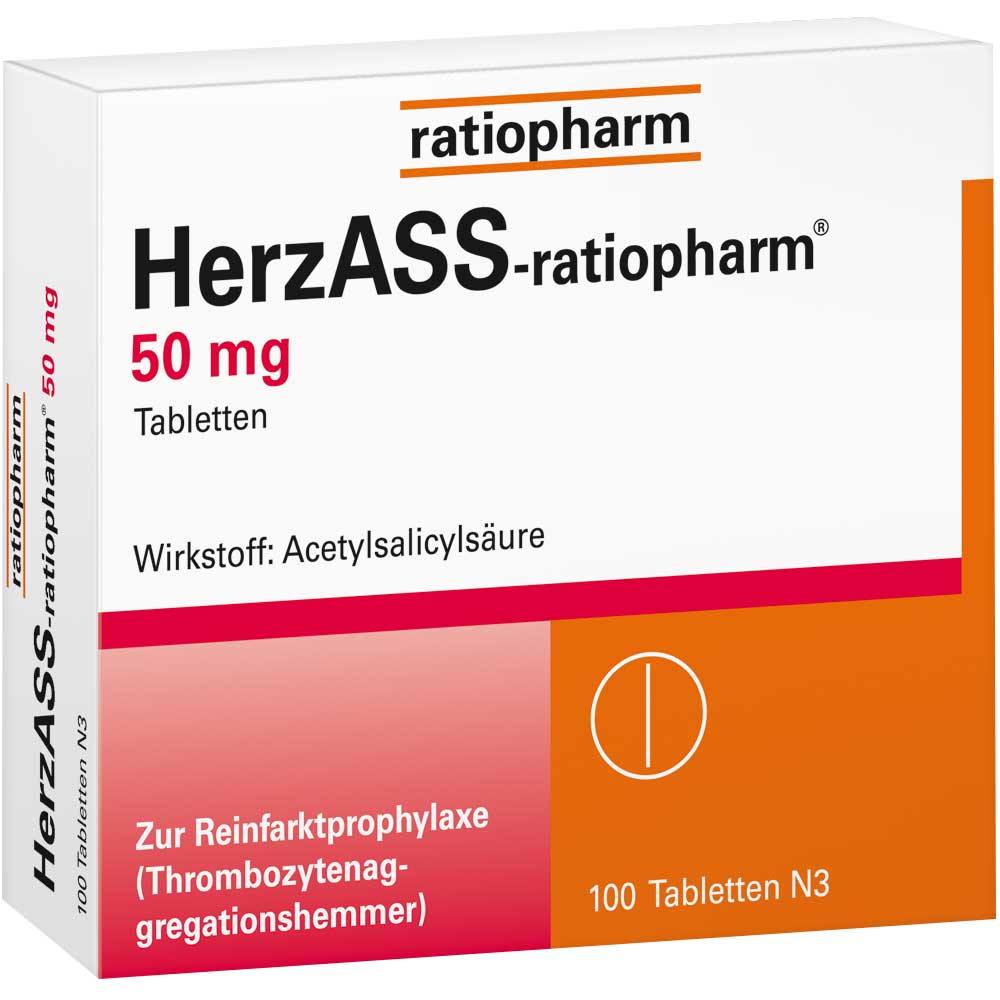 HerzASS-ratiopharm® 50 mg Tabletten
