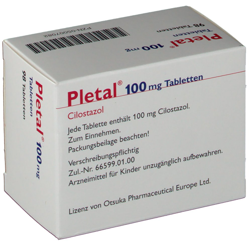 Pletal 100 Mg Tablets