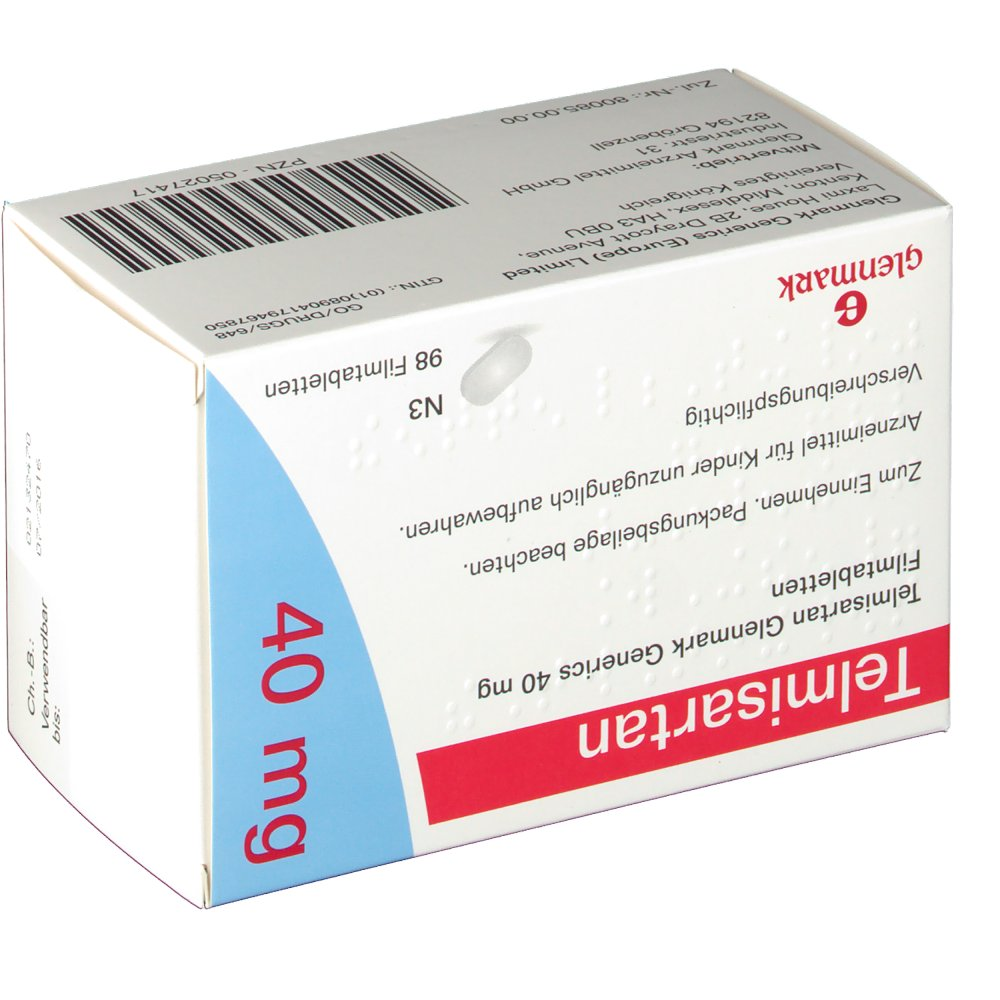 Telmisartan 40 Mg Amlodipine 5 Mg
