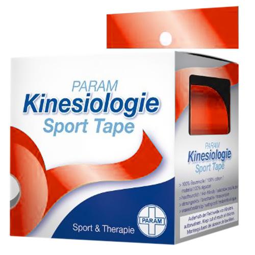 Param Kinesiologie Sport Tape 5 cm x 5 m rot