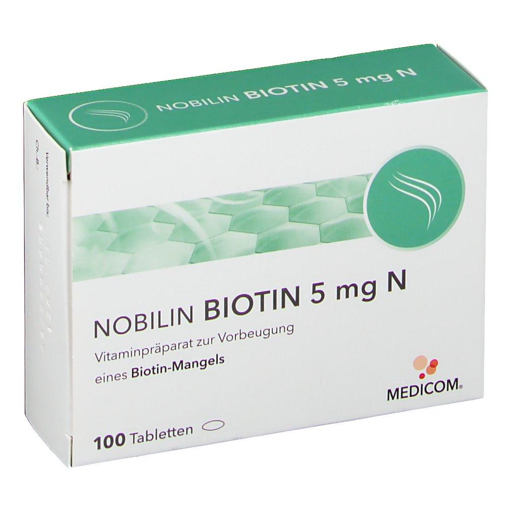 Erfahrungen Und Meinungen Zu Nobilin Biotin 5mg N Shop Apothekecom