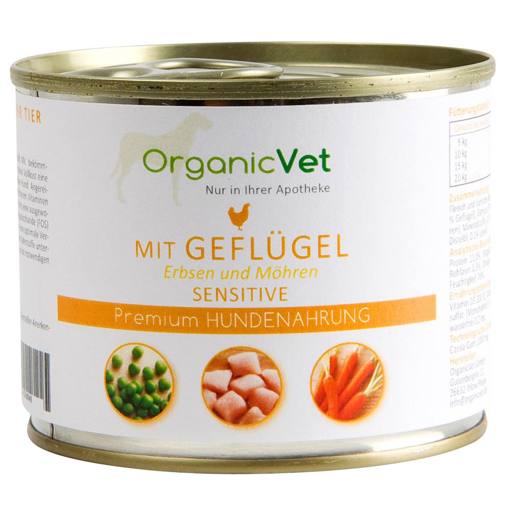 OrganicVet Dosennahrung Sensitive Geflügel für ...
