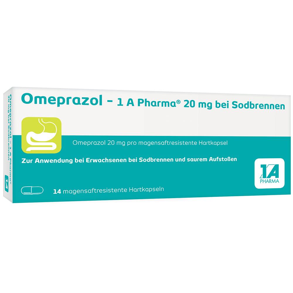 Omeprazol - 1 A Pharma® 20 mg bei Sodbrennen