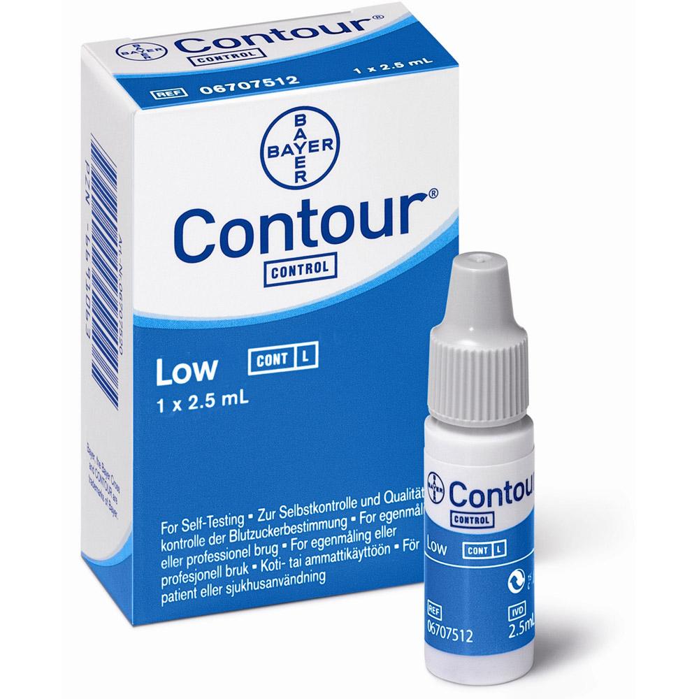 Contour® Kontrolllösung niedrig