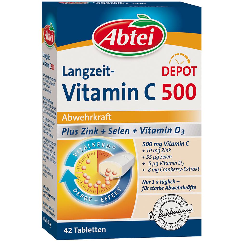 abtei langzeit vitamin c 500 plus zink selen vitamin d3. Black Bedroom Furniture Sets. Home Design Ideas