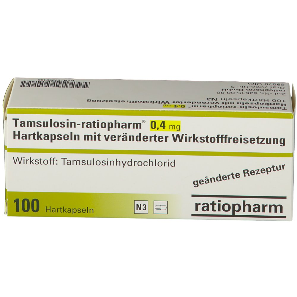Tamsulosin 0 4mg Nebenwirkungen