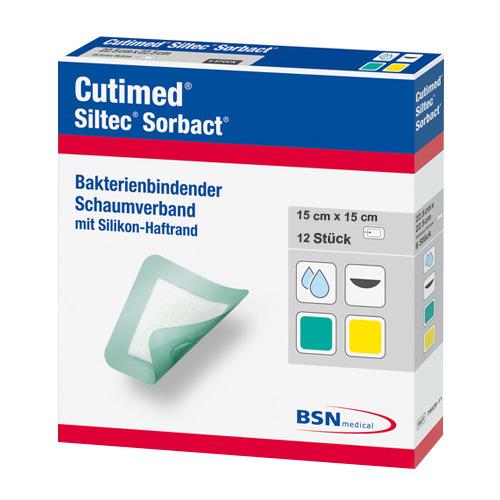 Cutimed® Siltec Sorbact 15 cm x 15 cm