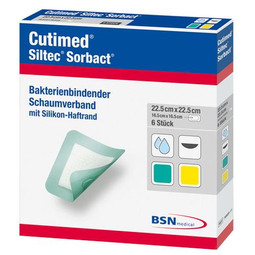 Cutimed® Siltec Sorbact 22,5 cm x 22,5 cm