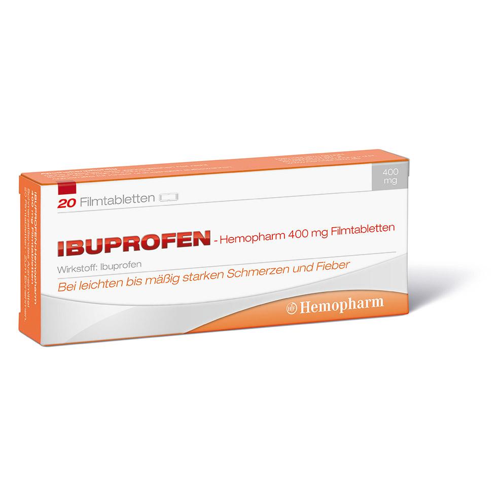 Ibuprofen-Hemopharm 400 mg Filmtabletten