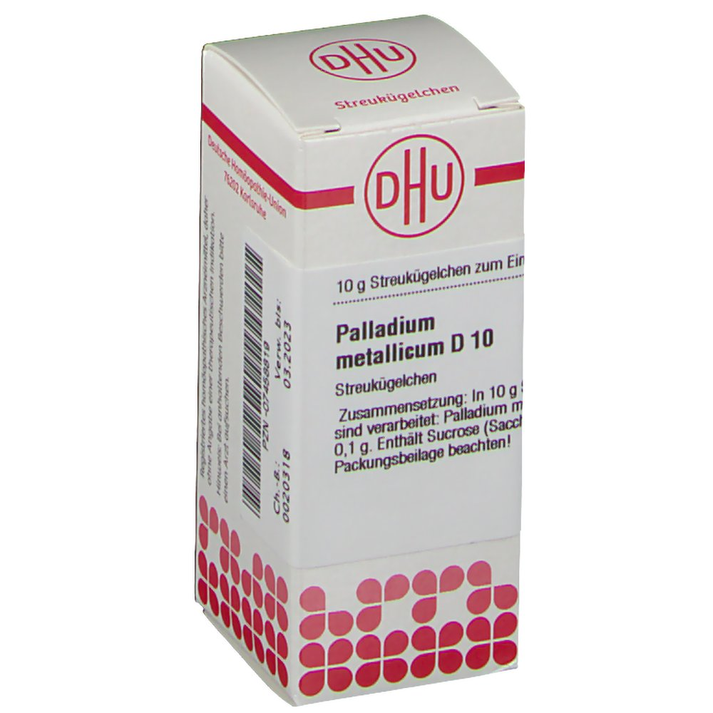 DHU Palladium Metallicum D10