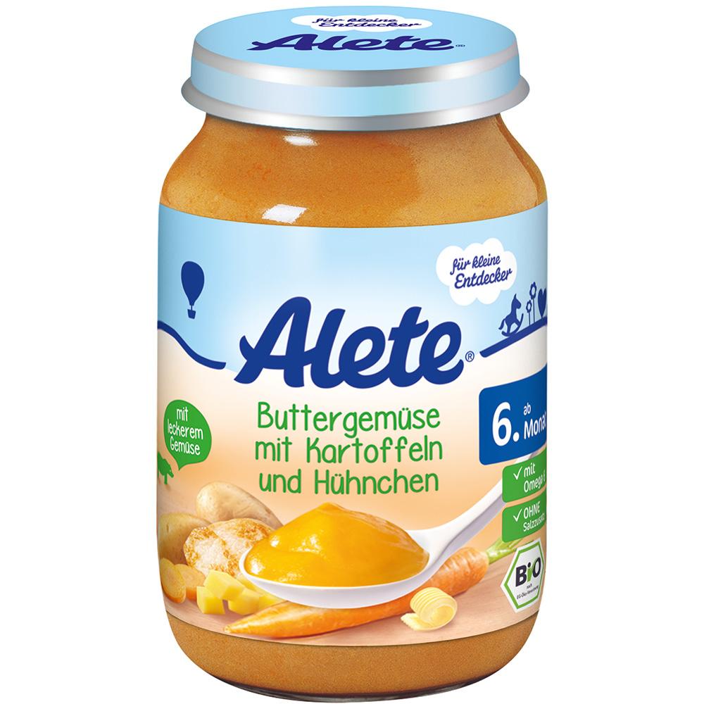 Alete® Buttergemüse mit Kartoffeln & Hühnchen