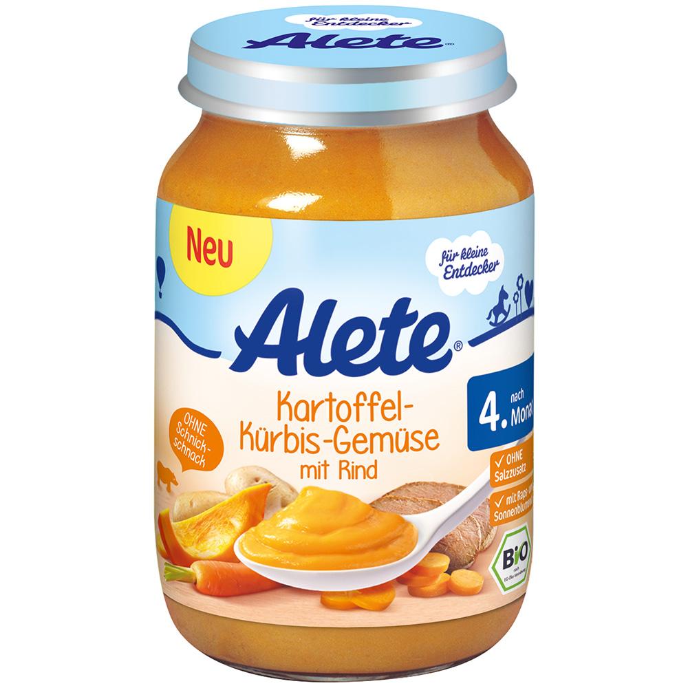 Alete® Kartoffel-Kürbis-Gemüse mit Rind