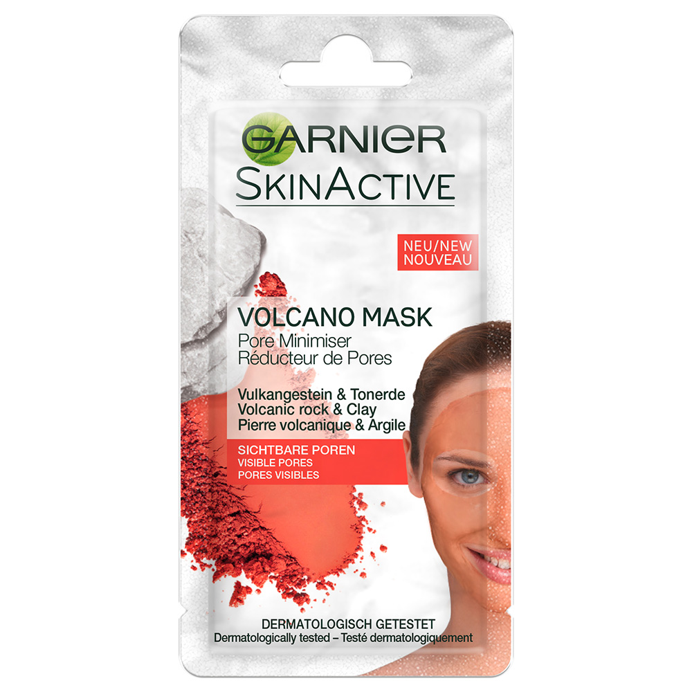 Garnier Skin Active Sachet Porenverfeindernde Volcano Mask