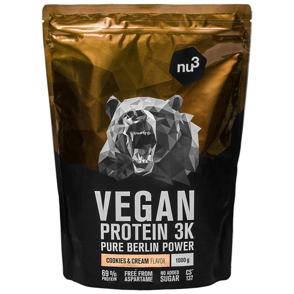 nu3 Vegan Protein 3K Shake, Cookies-Cream