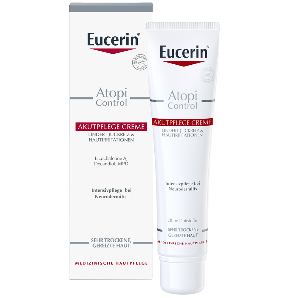 eucerin atopicontrol akutpflege creme probierset inkl. Black Bedroom Furniture Sets. Home Design Ideas