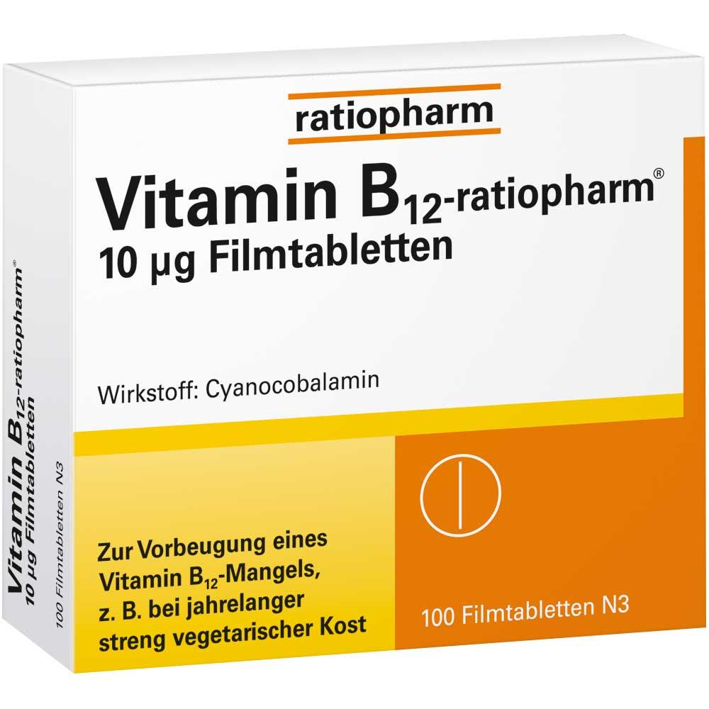 Vitamin-B12-ratiopharm® 10 µg Filmtabletten - shop ...