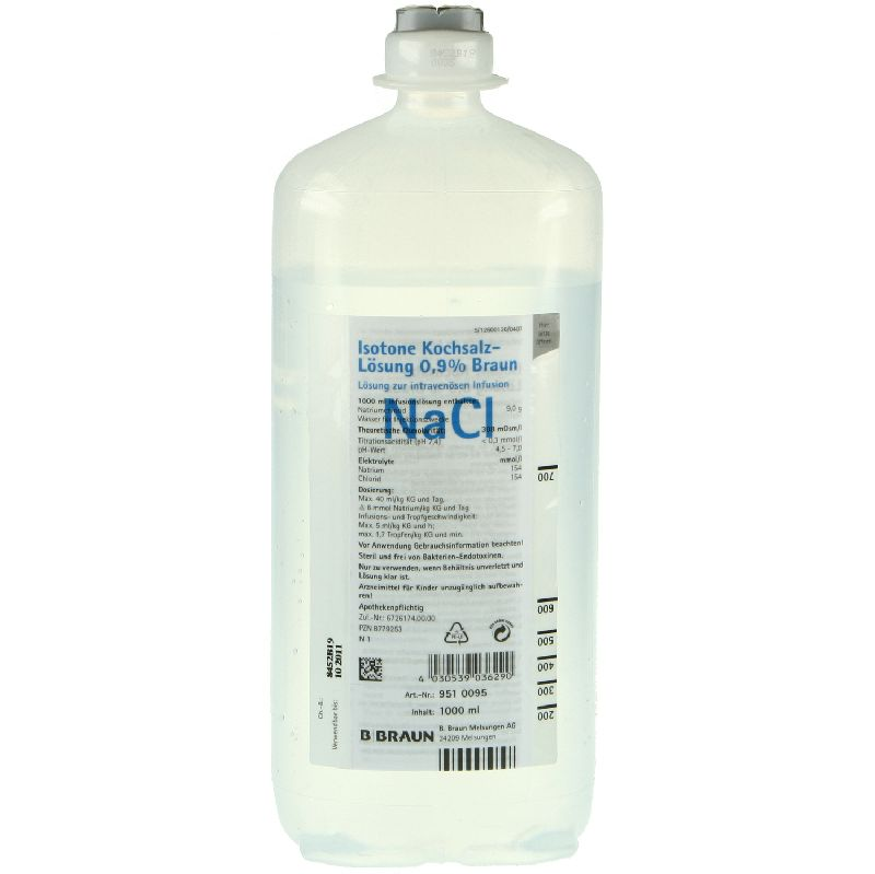 Isotone Kochsalz-Lösung 0,9 % B. Braun, Ecoflac® plus