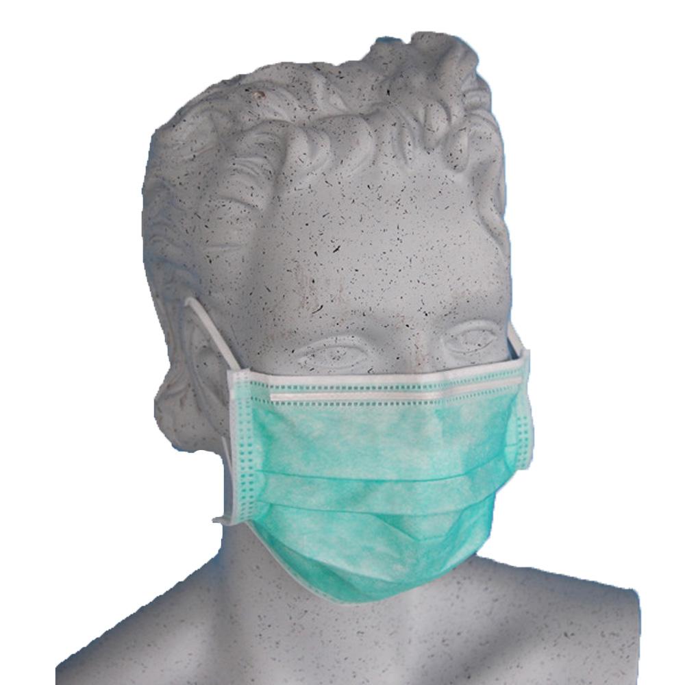 Gesichtsmaske / Mundschutz grün mit Band