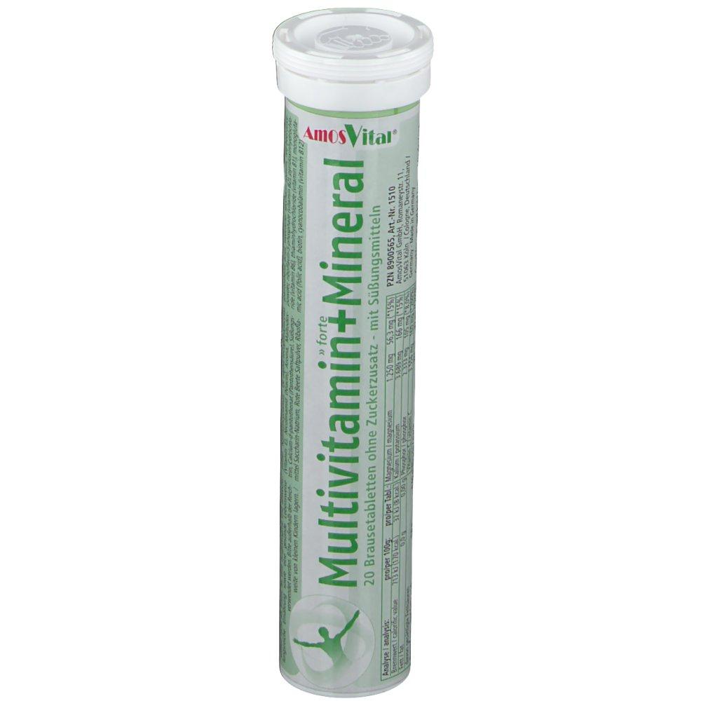 AmosVital® Multivitamin + Mineral mit Mandarinengeschmack