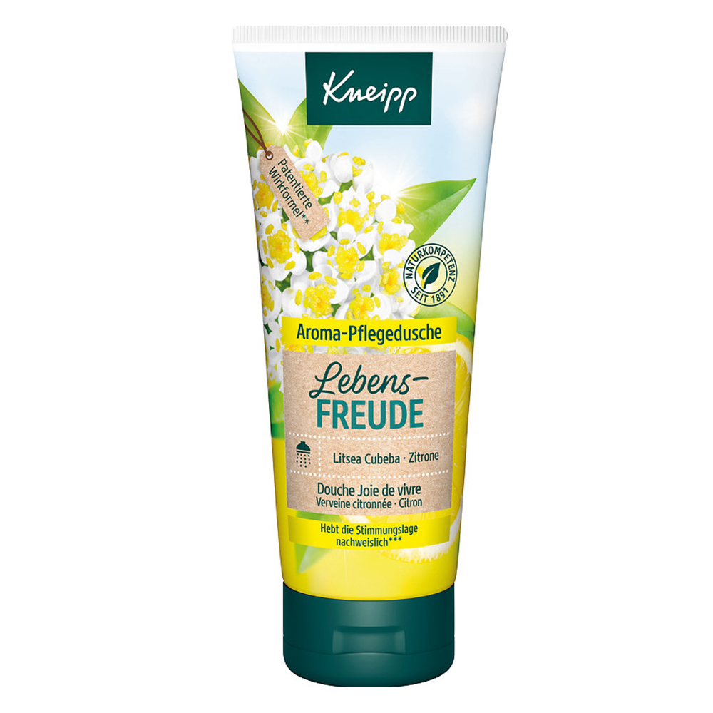 kneipp aroma pflegedusche lebensfreude litsea cubeba zitrone shop. Black Bedroom Furniture Sets. Home Design Ideas