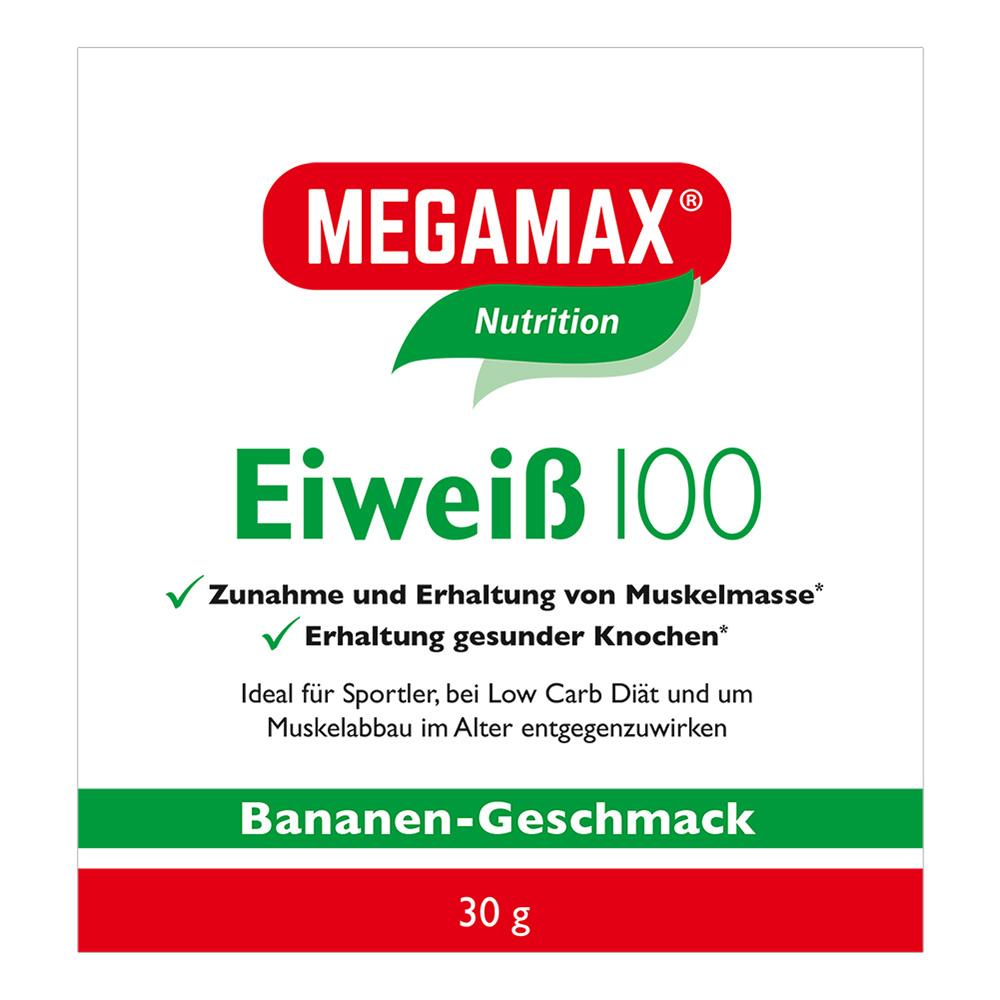 Megamax® Basic & Active Eiweiß 100 Bananen-Geschmack