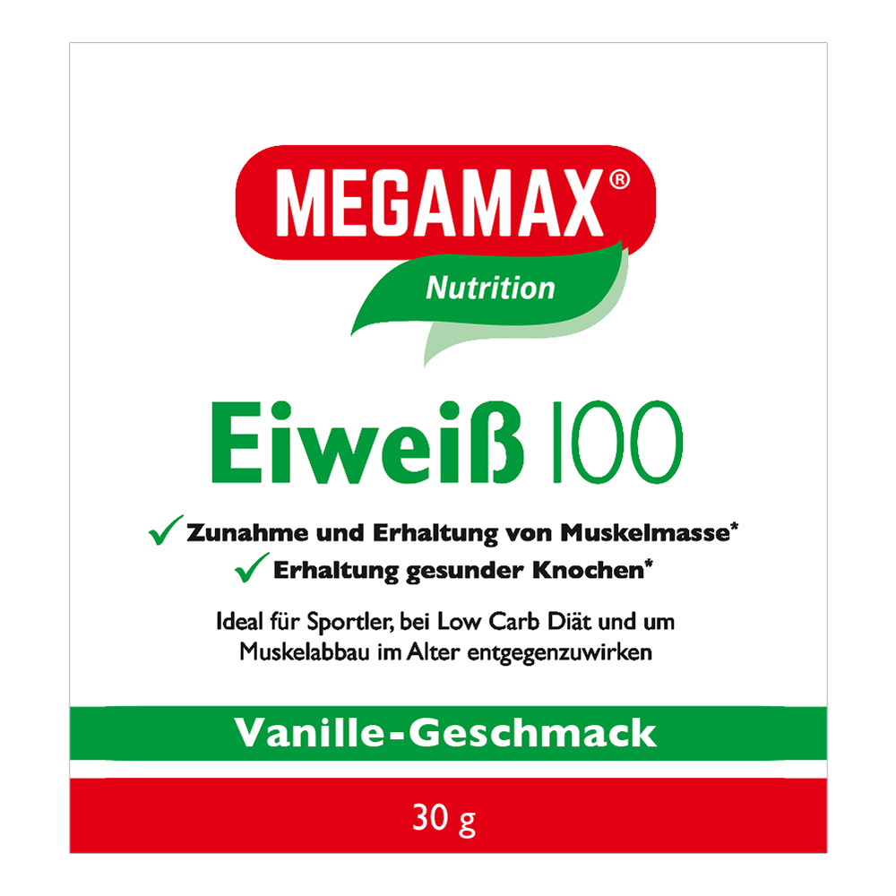 Megamax® Basic & Active Eiweiß 100 Vanille-Geschmack