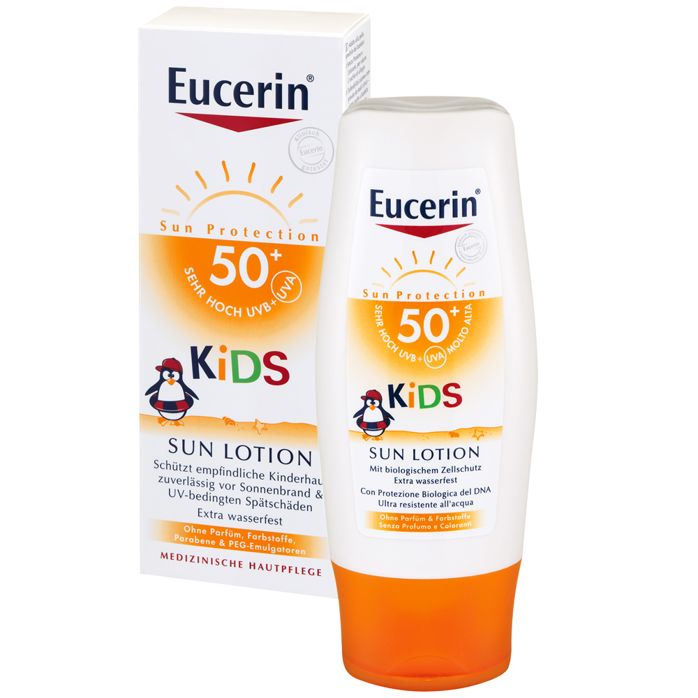 eucerin kids sun lotion lsf 50 shop. Black Bedroom Furniture Sets. Home Design Ideas