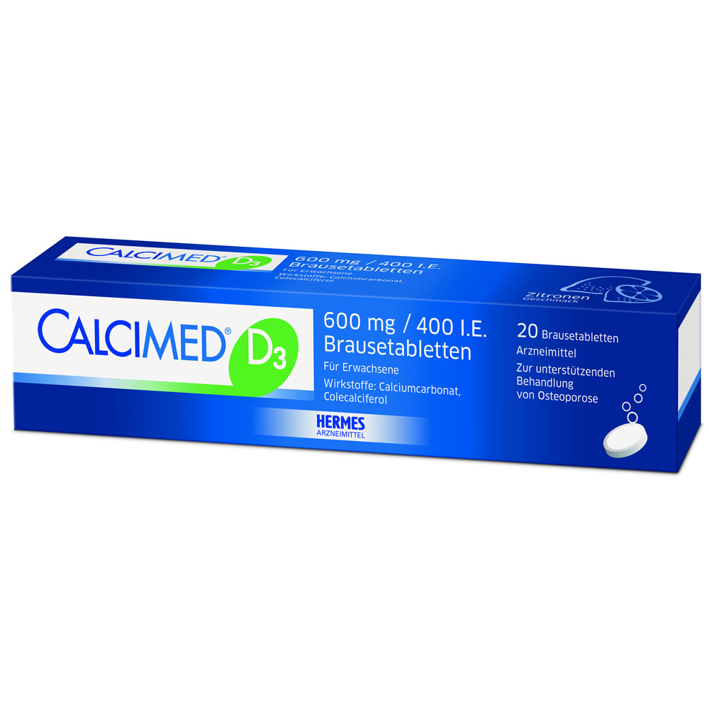 Calcimed® D3 600 mg/400 I.e. Brausetabletten